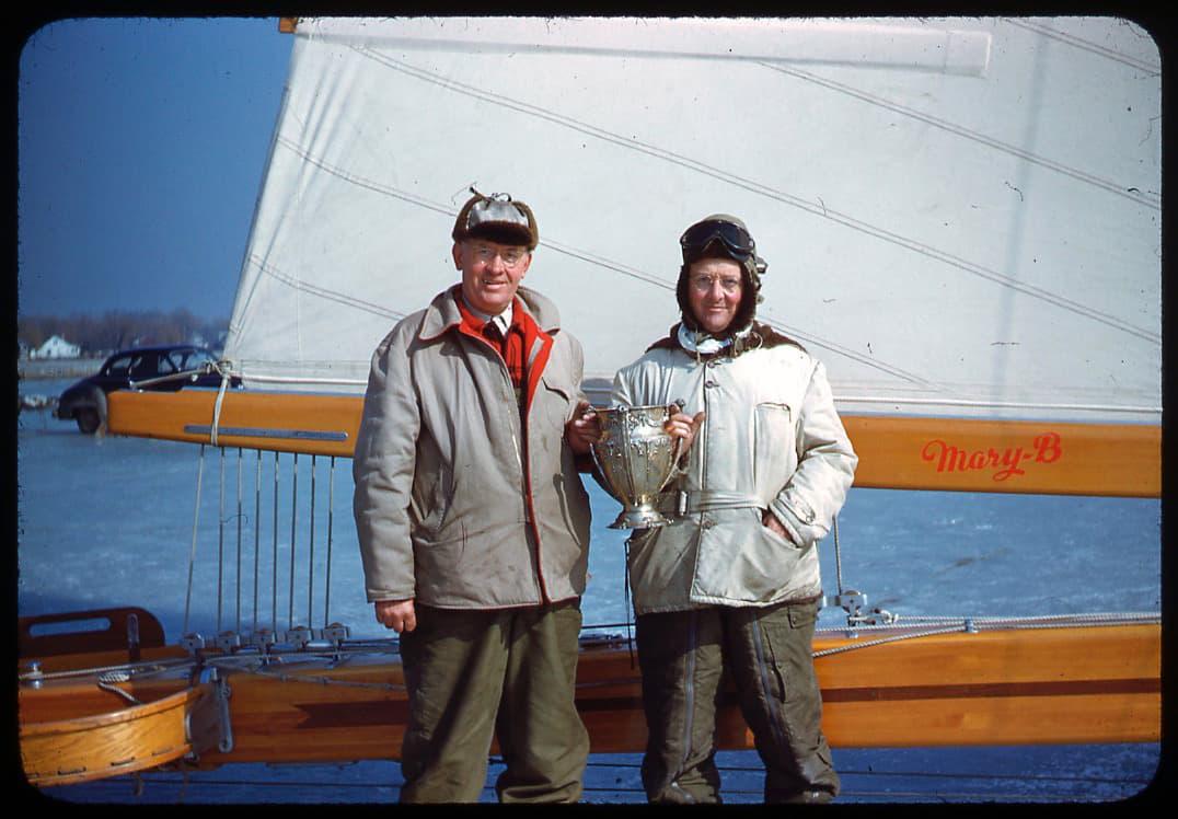 Mary B's owner, O.T. Havey and skipper Carl Bernard